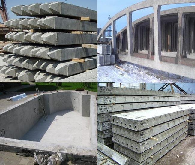 Применение бетона B25