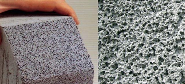 Структура легкого бетона