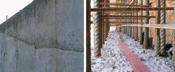 Устройство стыка при бетонировании