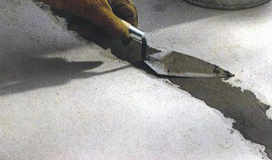 Заделка трещин