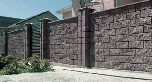 Блочный забор