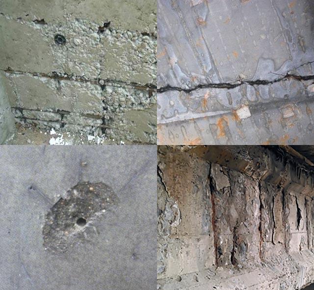 Виды дефектов бетонных конструкций