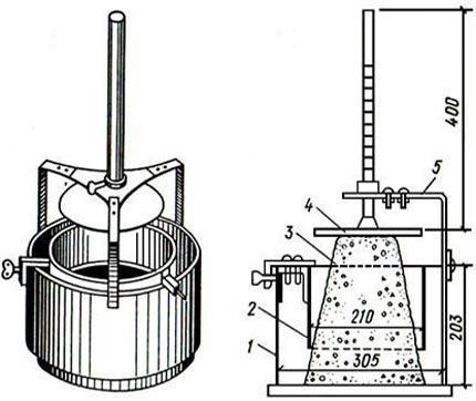 определение подвижности вискозиметром