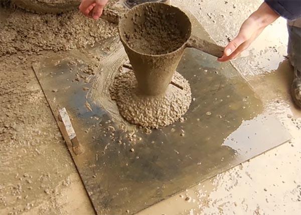 Определение подвижности бетона