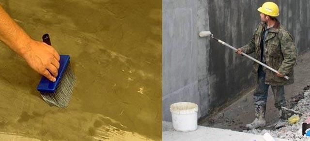 Нанесение гидроизоляции