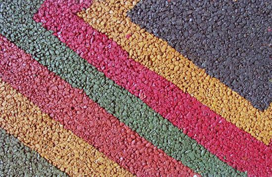Цветные асфальтобетонные покрытия